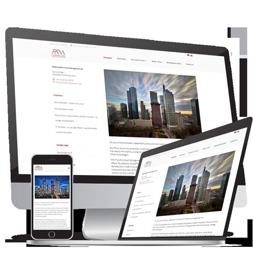 Webdesign  & Webentwicklung Frankfurt Asset Management AG