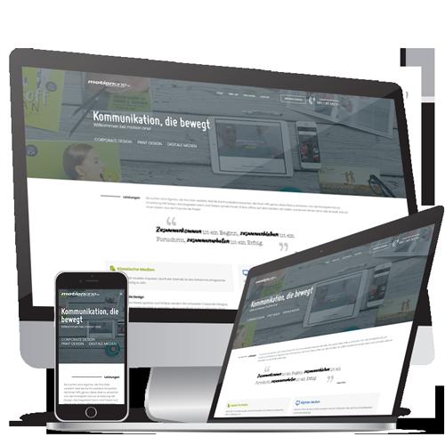 Webdesign  & Webentwicklung Motion One