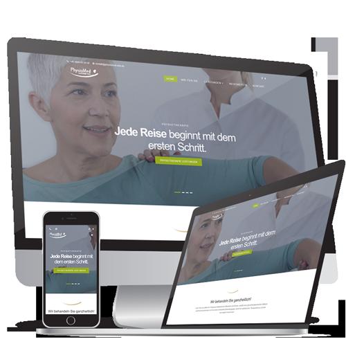 Webdesign  & Webentwicklung Physiomed Elze