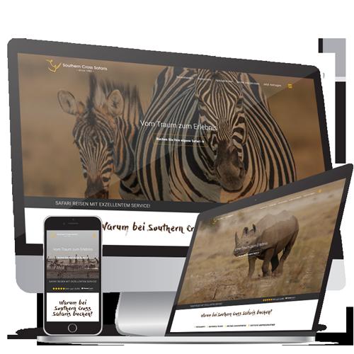 Webdesign  & Webentwicklung Southern Cross Safaris