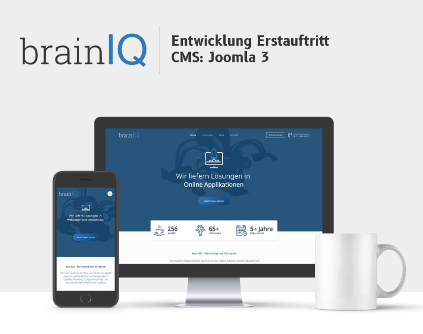 Ausarbeitung Logo: brainIQ - Marketing mit Verstand